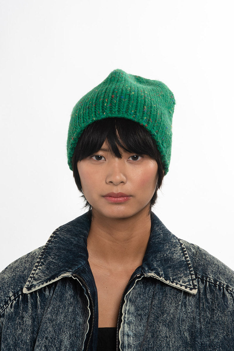 Lighthouse Beanie in Speckled Lawn