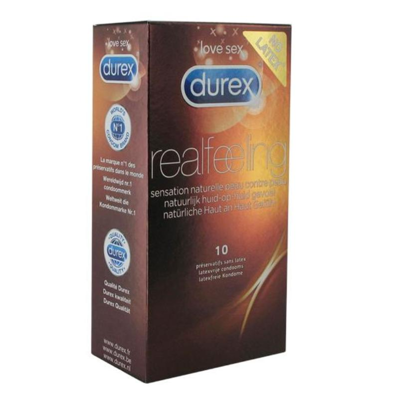 Durex Real Feeling Condoms Pack of 10 - Adult Toys