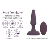Feel So Alive Remote Controlled Vibrating Pleasure Plug - Adult Toys