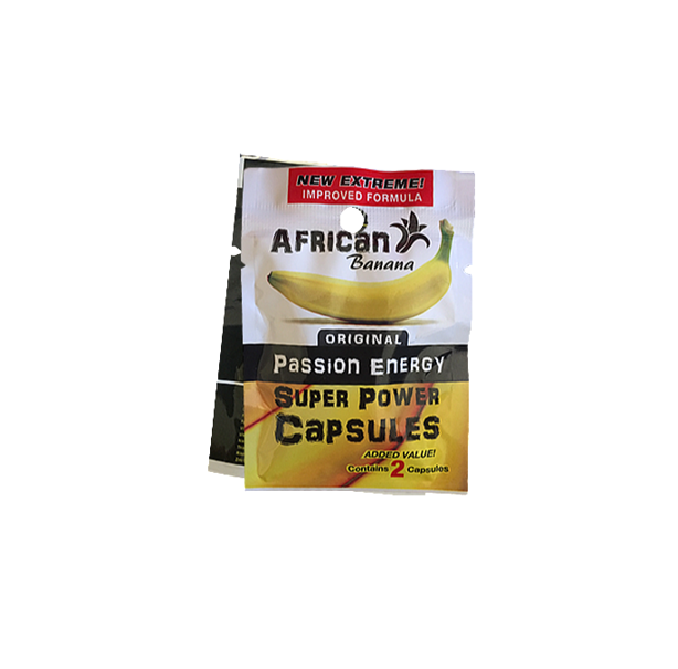 AFRICAN Banana Super Power Capsules 530mg (2's) - Sex Toys