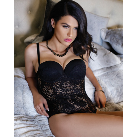 Beautiful Black Lace Teddy - Sex Toys