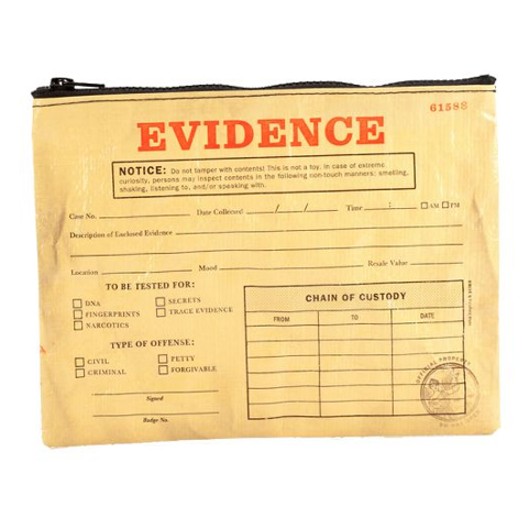 Blue Q EVIDENCE Storage Pouch - Sex Toys