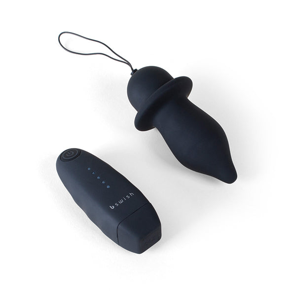 B Swish Bfilled Classic Unleashed Remote Controlled Anal Plug Black