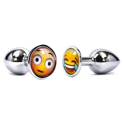 Emoji Metal Butt Plug Small