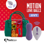 FeelzToys JIVY Rechargeable Remote Controlled Motion Love Balls - Sex Toys