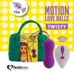 Feelztoys TWISTY Rechargeable Remote Controlled Motion Love Balls