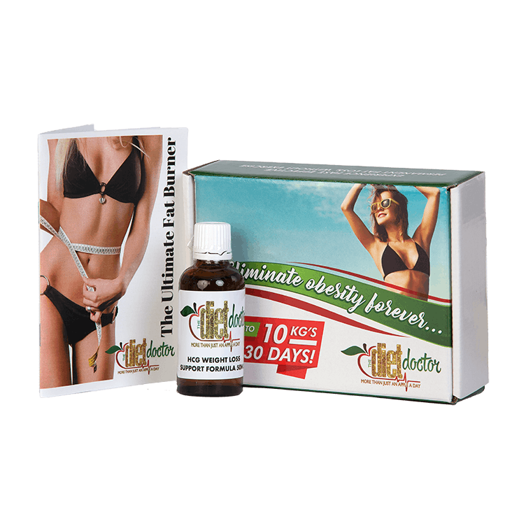 HCG Homeopathic Fat Loss Slimming Drop Package 1 Month Supply