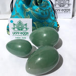 Set of 3 Indian Jade YONI EGGS - Sex Toys