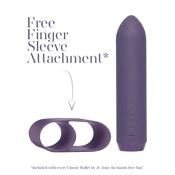 Je Joue Classic Rechargeable Bullet Vibrator With FREE Finger Sleeve - Sex Toys
