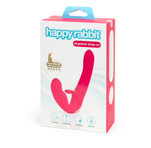 Happy Rabbit Rechargeable Vibrating Strapless Strap-On - Sex Toys Adult