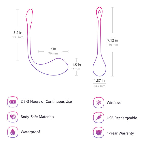 Lovense Lush 2 App Controlled Wearable Egg Vibrator