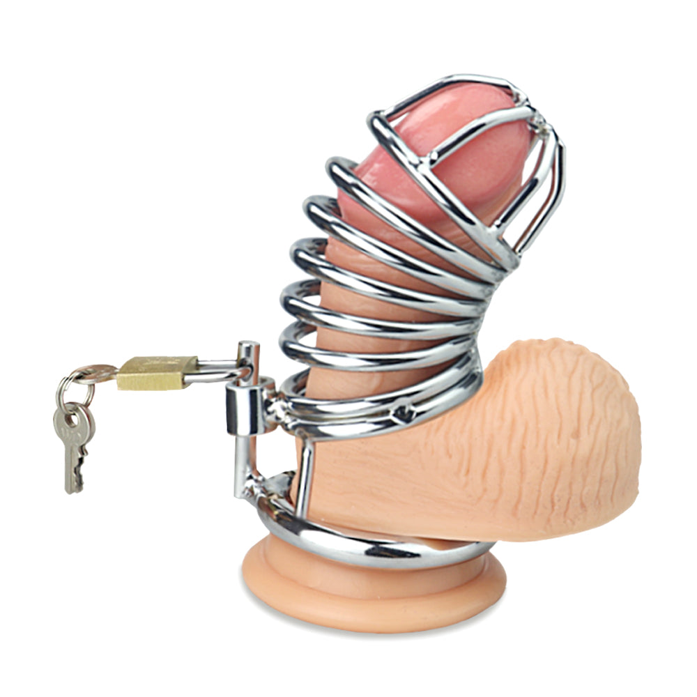 LoveToy JAILED Metal Chastity Cage For Men - Sex Toys For Men