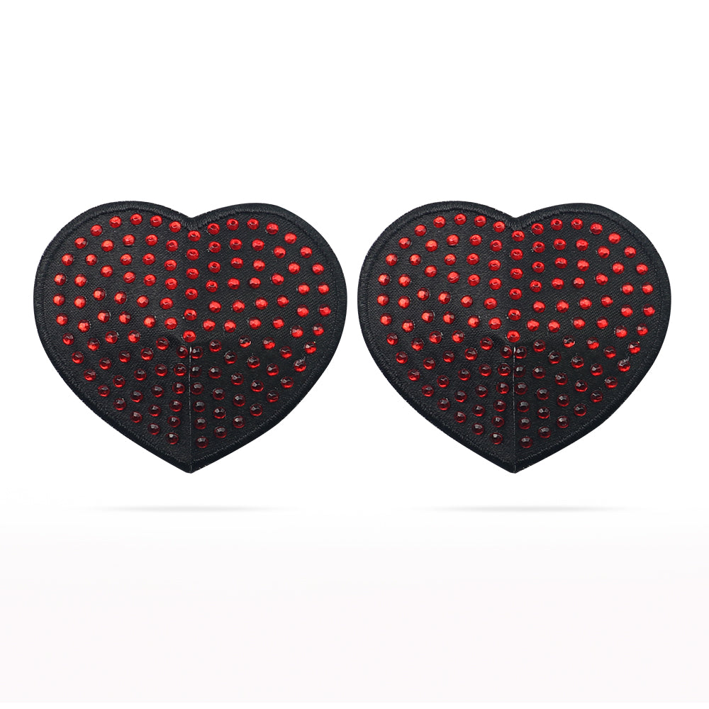 LoveToy Reusable Red Diamond Heart Nipple Pasties