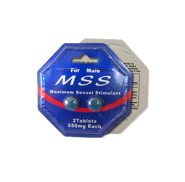 MSS Male Maximum Sexual Stimulants 550mg (2's) - Sex Toys