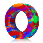 Oxballs PIG-RING Silicone Cock Ring Rainbow - Sex Toys For Men