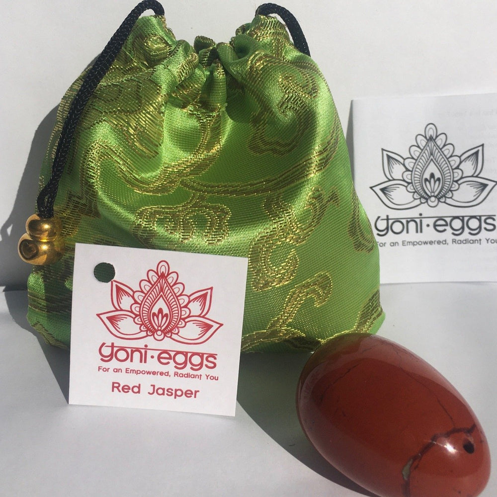 Red Jasper Medium YONI EGG - Sex Toys