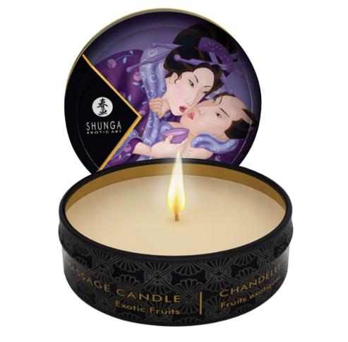 Shunga Massage Candle Libido Exotic Fruit 30ml - Sex Toys
