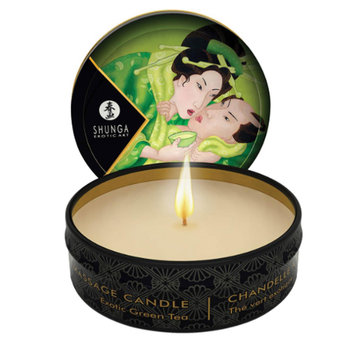 Shunga Massage Candle Zenitude Exotic Green Tea 30ml - Sex Toys