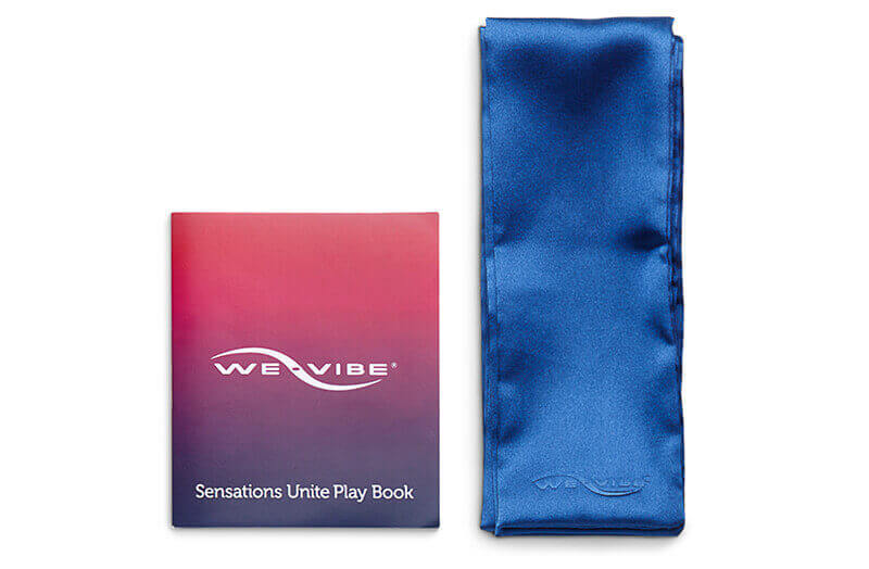 We Vibe Sensations Unite Clitoral Vibrator | Pivot Cock Ring Duo With FREE Silky Sash & Playbook - Sex Toys