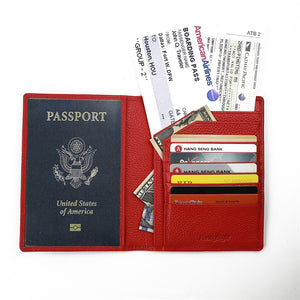 Bifold Rfid Blocking Leather Passport Holder - Vagabond Traveler