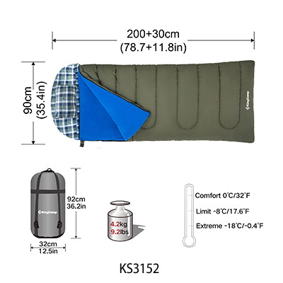 3-in-1 Oversized Sleeping Bag with Hood - Vagabond Traveler