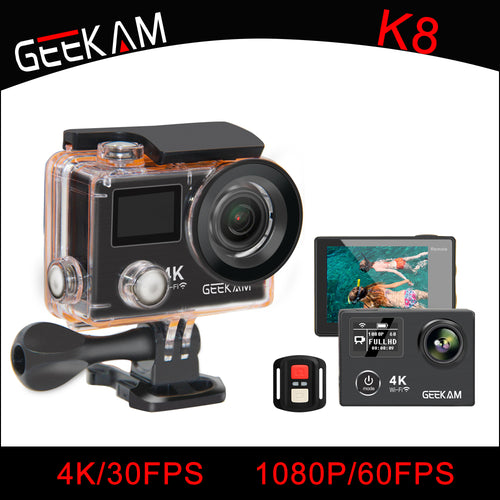 GEEKAM K8 Waterproof Action Camera Ultra HD 4K WIFI - Vagabond Traveler