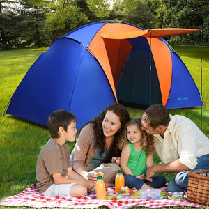 2 Bedroom& 1 Living Room Waterproof Dome Tent - Vagabond Traveler