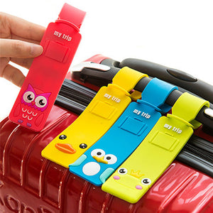 Cute Cartoon Silicone Suitcase Tags - Vagabond Traveler