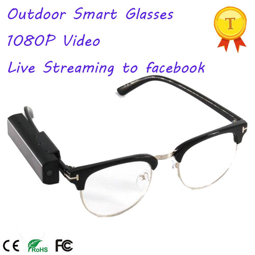 1080P Smart Glasses with Smart Phone APP For IOS and Android Phones - Vagabond Traveler