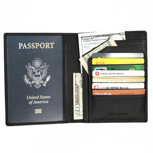 Leather RFID Passport Protectors - Vagabond Traveler