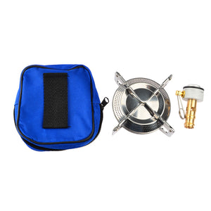 Folding Stainless Steel Gas Camping Stove - Vagabond Traveler