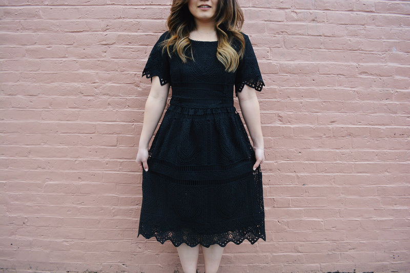 lilah dress in black