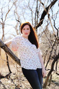 tansy blouse in white