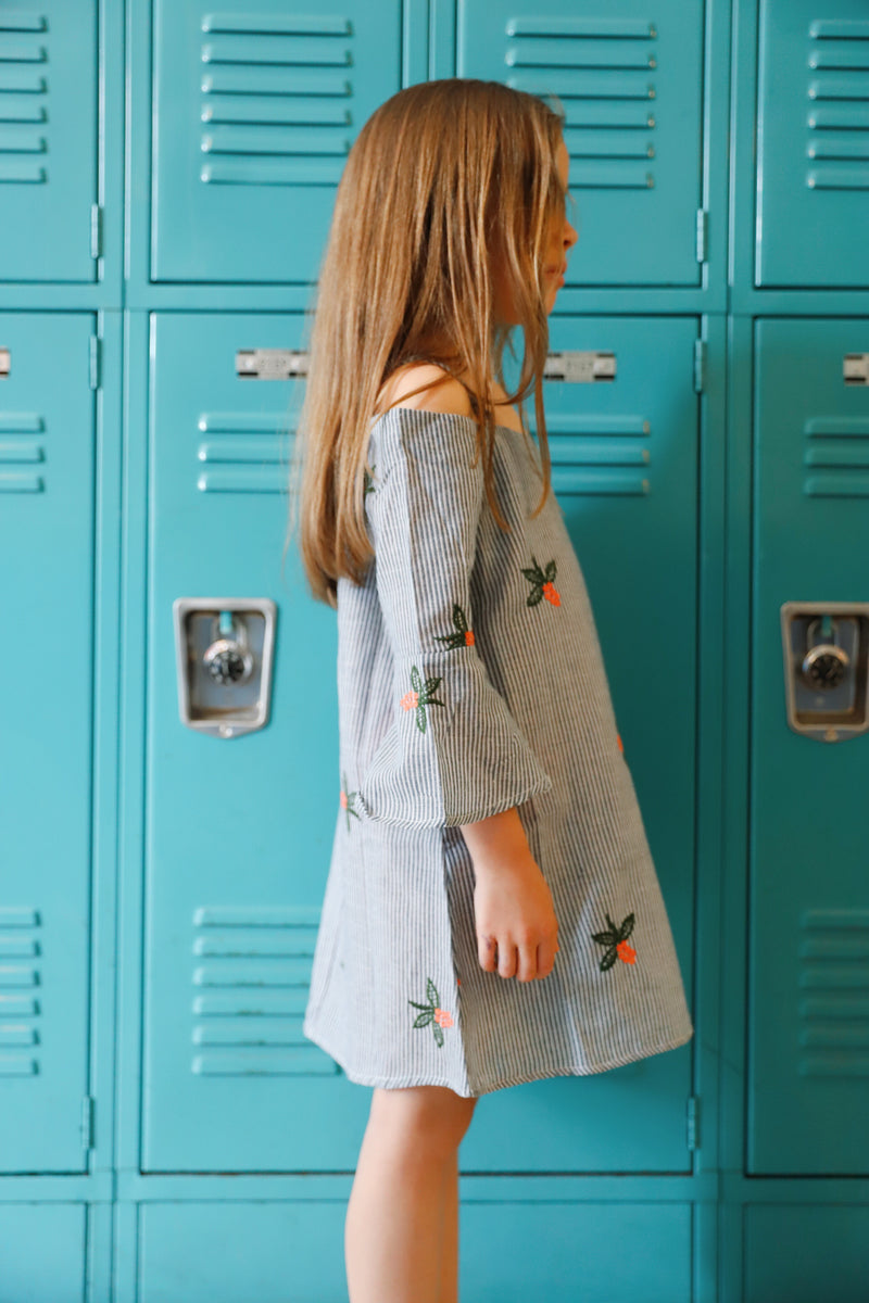 charlee dress in denim