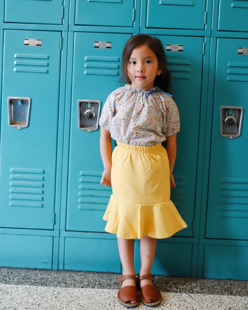 maisie skirt in yellow