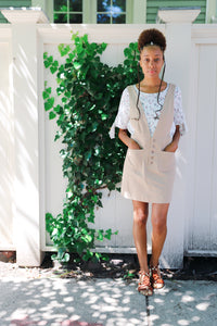 ashby overall skirt in cream