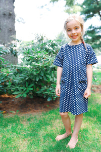 hadley dress in navy