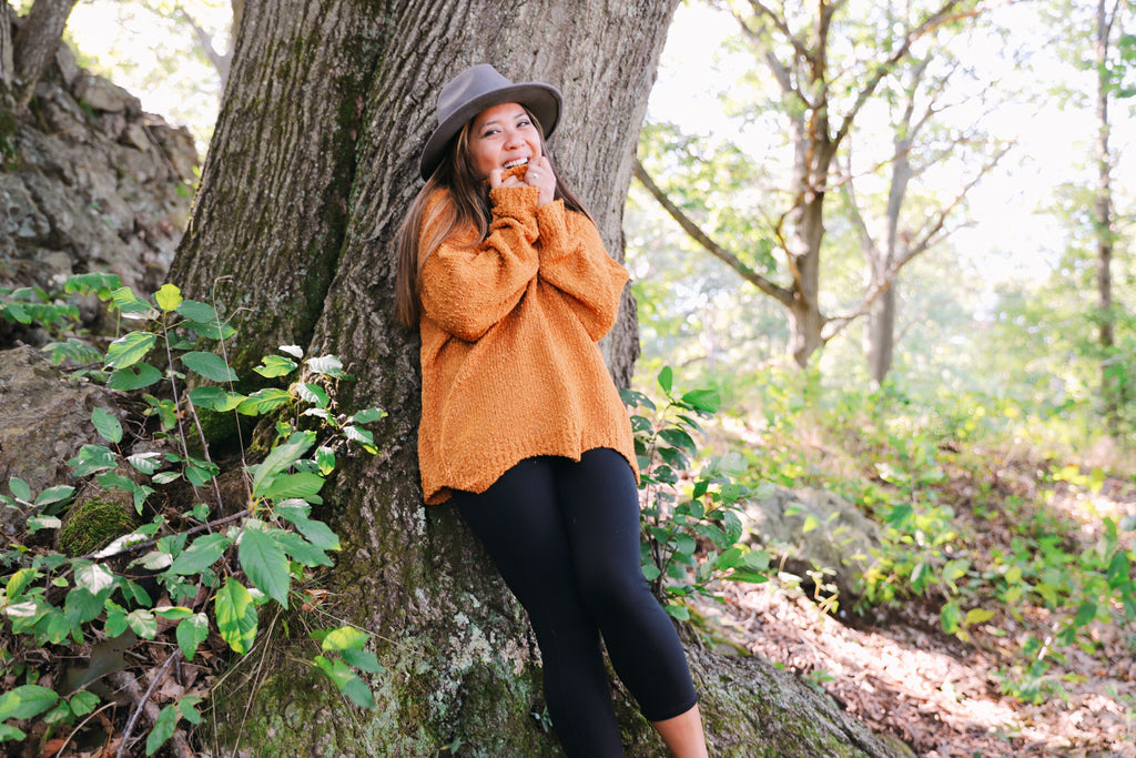 adeline sweater in mustard