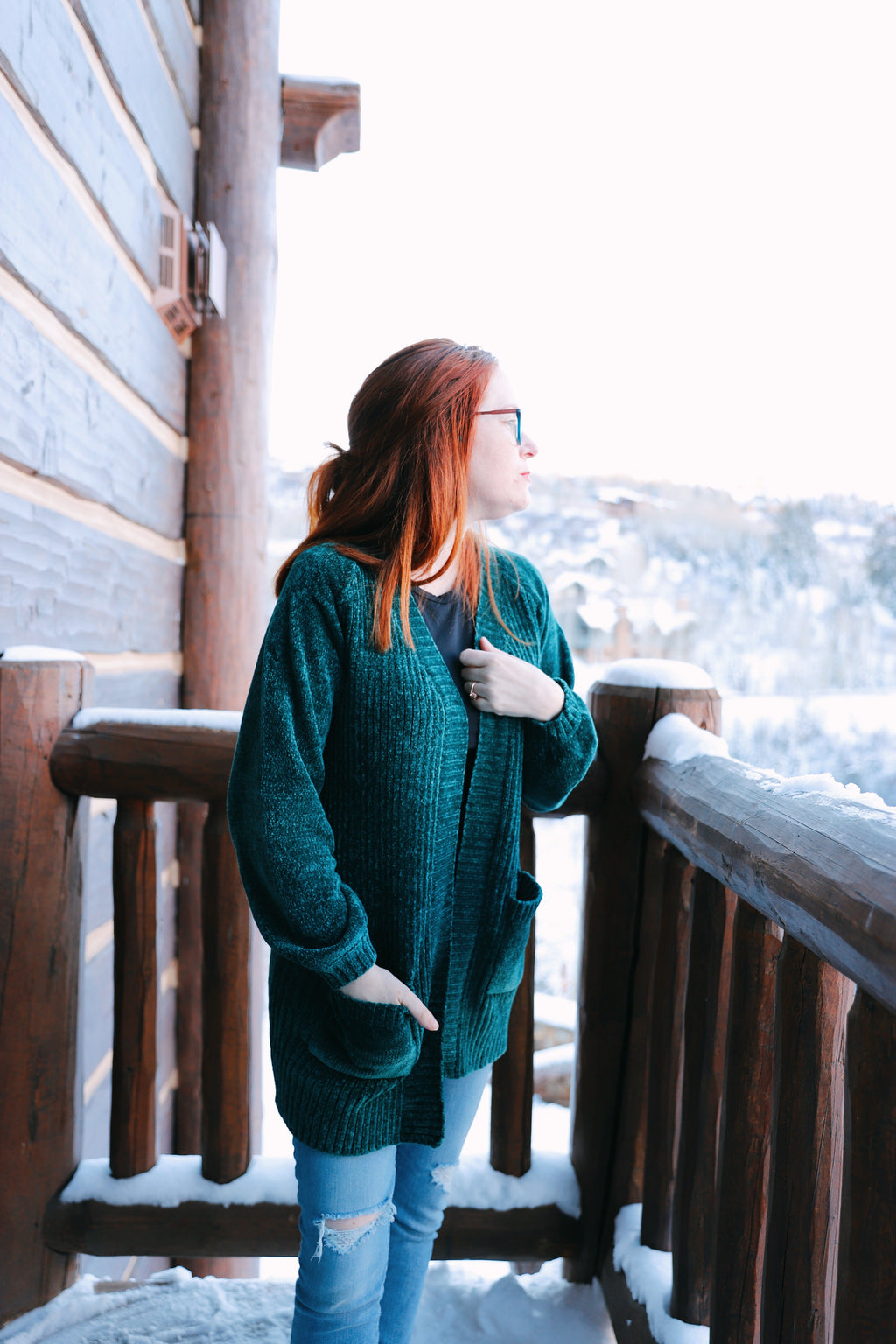 sawyer cardigan in emerald