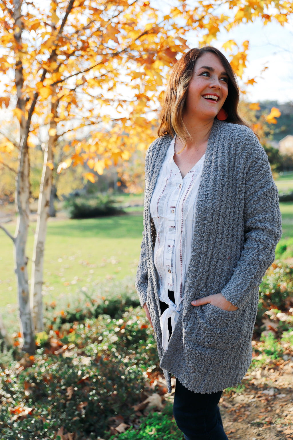kate cardigan in gray