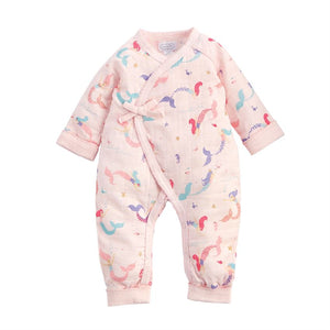 Pink Muslin Mermaid One-Piece