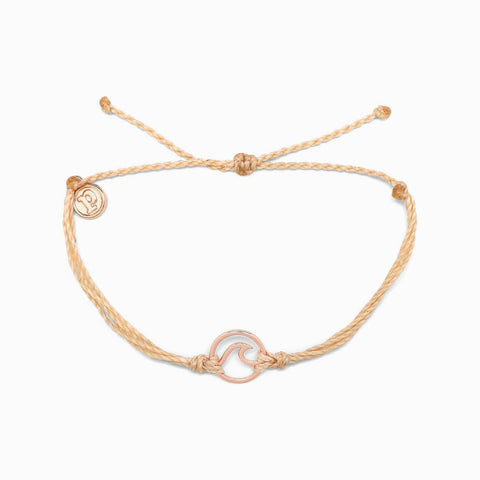 Wave Rose Gold Charm Bracelet