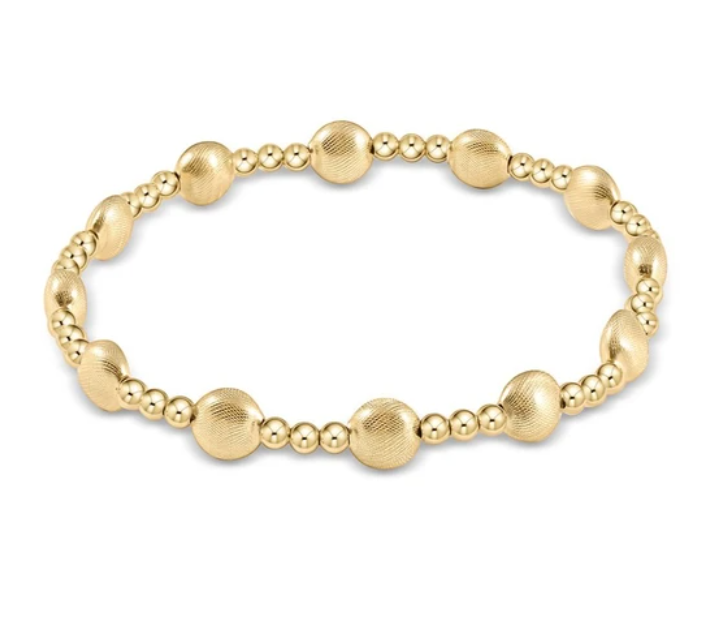 enewton Extends - Honesty Gold Sincerity Pattern 6mm Bead Bracelet