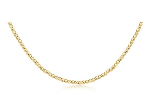"15"" Choker Classic Gold 2mm Bead"