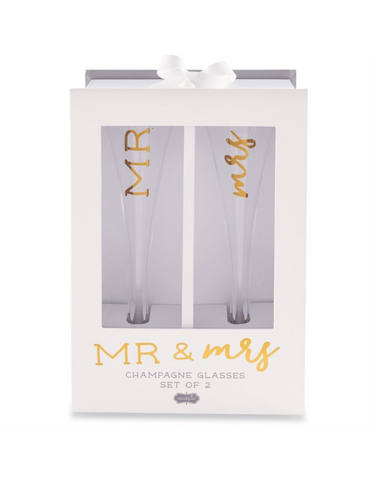 Mr. and Mrs. Champagne Glass Set