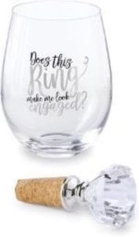 Wine Glass with Topper Available in 3 Styles