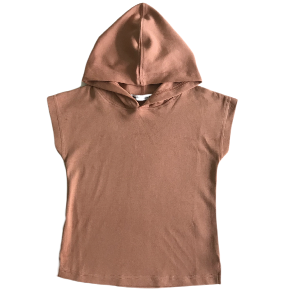 Blush Sleeveless Hooded Tee