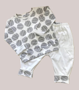 Ivory Reversible Comfy Pant