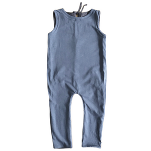 Ink Slate Reversible Jumpsuit - Peridot Kids