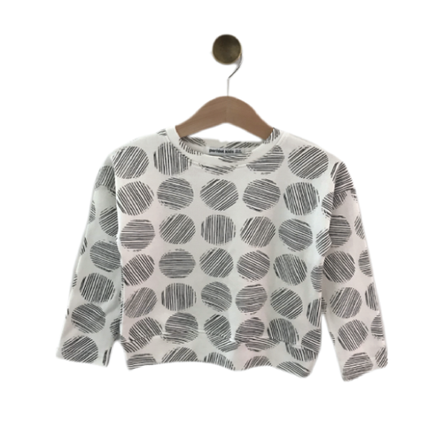 Drop Shoulder Top | Circles - Peridot Kids